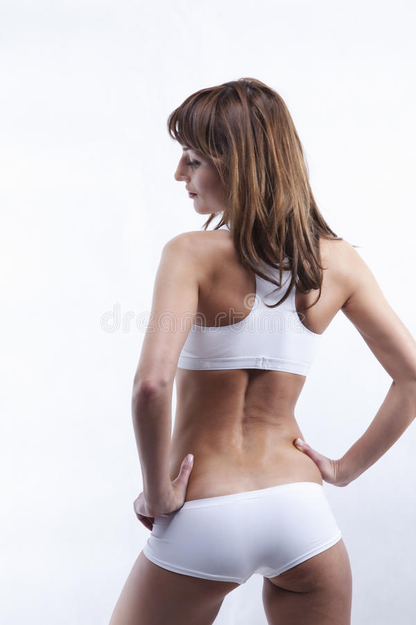 задняя женщина s тела сексуальная стоковое изображение rf