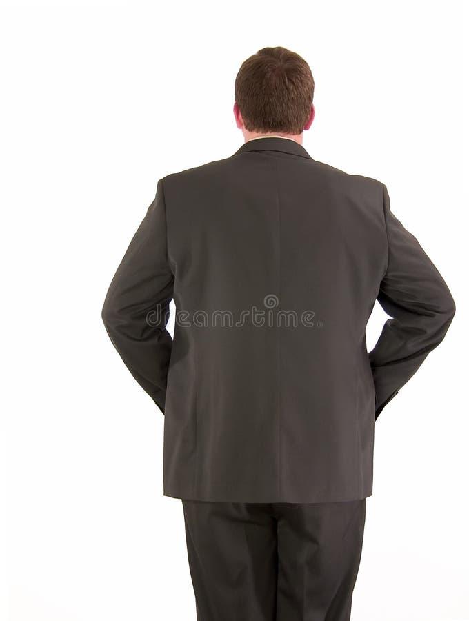 Задняя сторона бизнесмена стоковое изображение rf