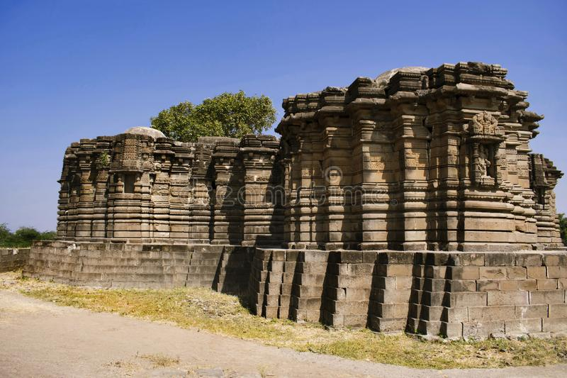 Задняя сторона, висок Anandeshwar, Lasur, Daryapur Taluka, район Amravati, махарастра, Индия стоковое фото