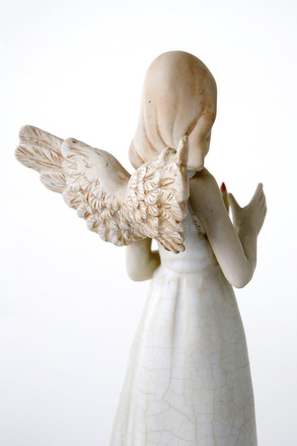 задняя часть ангела стоковое изображение rf