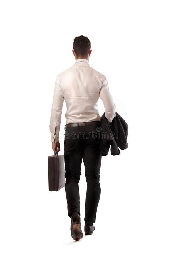 Задняя часть бизнесмена стоковая фотография