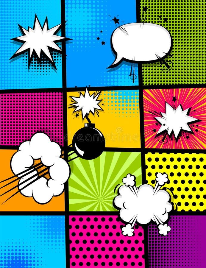 Задняя часть вертикали искусства шипучки комика бесплатная иллюстрация