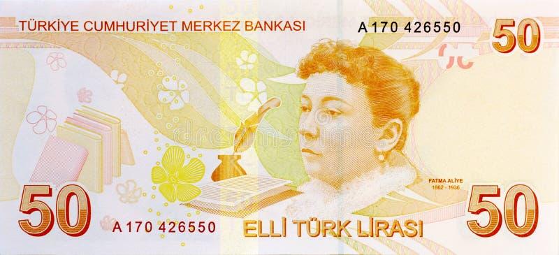 Задняя часть кредитки 50 лир стоковые фотографии rf
