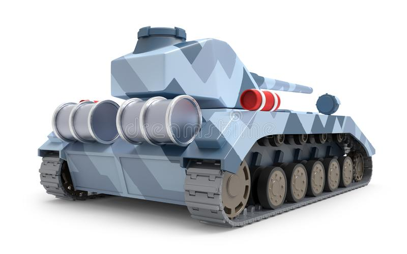 Задняя часть танка тяжелая фантастическая иллюстрация штока