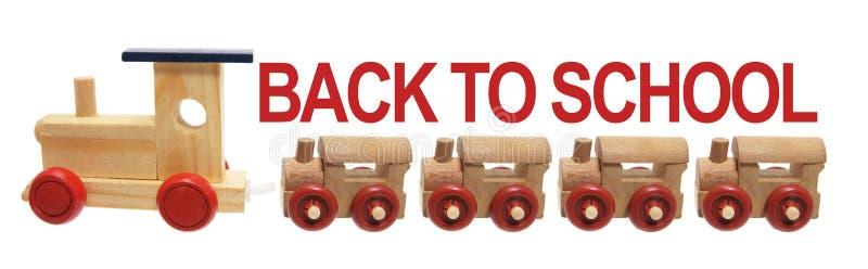 задняя школа для того чтобы toy поезда стоковое фото