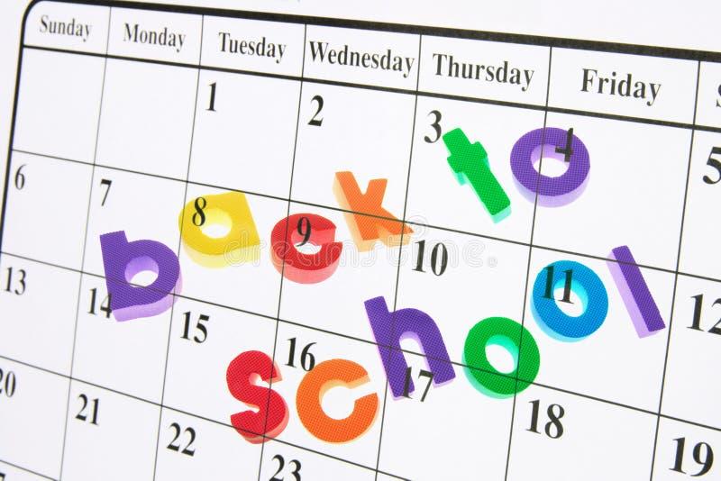 задняя школа календара к стоковые изображения rf