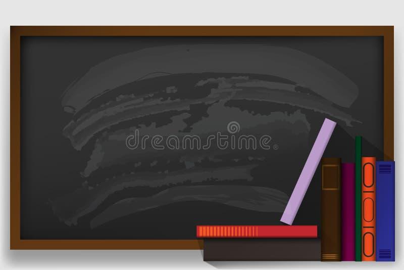 задняя школа к 2 знамени с школьными принадлежностями вектор иллюстрация штока