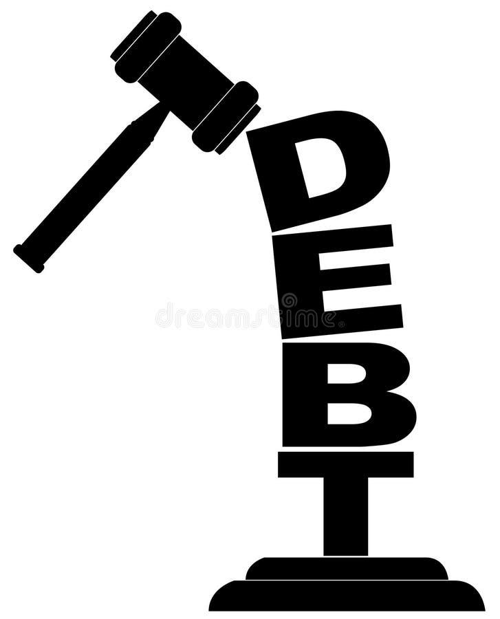задолженности ломать gavel вниз бесплатная иллюстрация