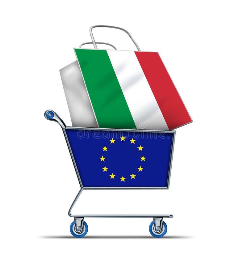Задолженность итальянки и Италии европы покупая иллюстрация штока