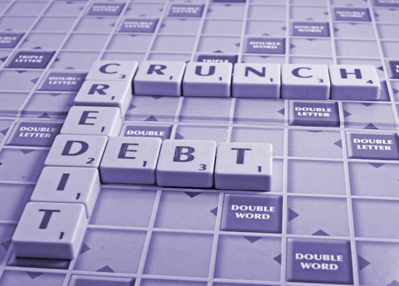 задолженность хруста кредита стоковая фотография
