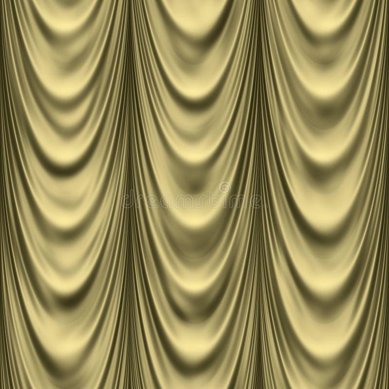 задрапировывает золотистое иллюстрация вектора