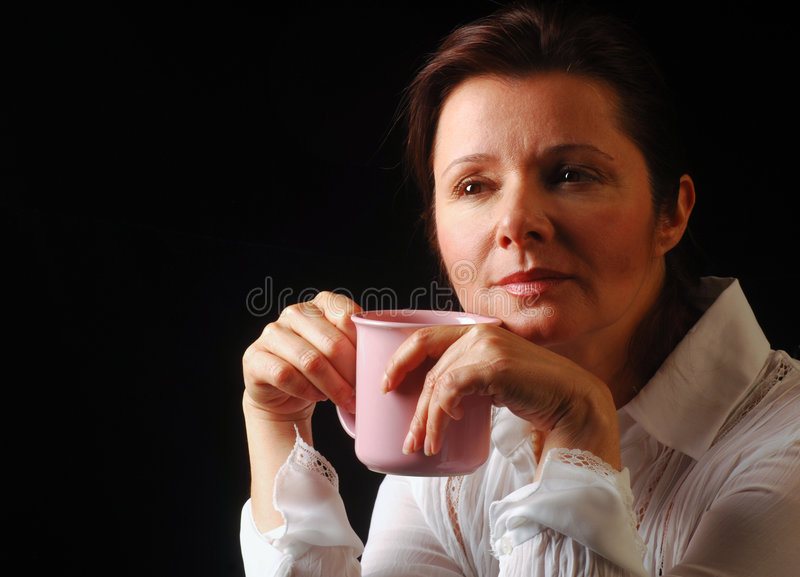 задумчивости кофе стоковое фото rf