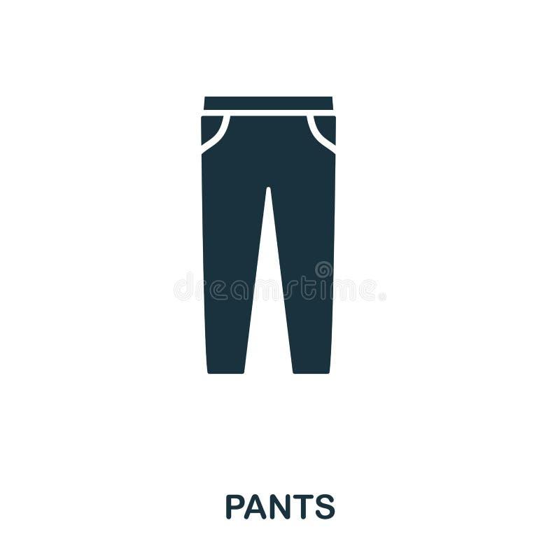 Задыхает значок Плоский дизайн значка стиля Ui Иллюстрация значка брюк пиктограмма изолированная на белизне Подготавливайте для и иллюстрация вектора