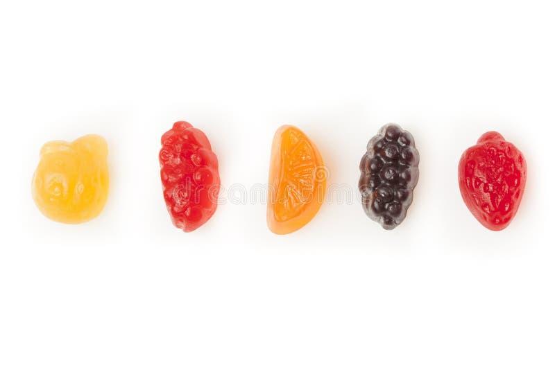 Заедки органического плодоовощ камедеобразные для детей стоковое изображение