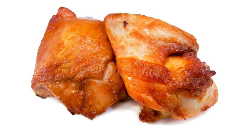 Зажаренная в духовке грудь цыпленк цыпленка изолированная на белой предпосылке стоковое фото