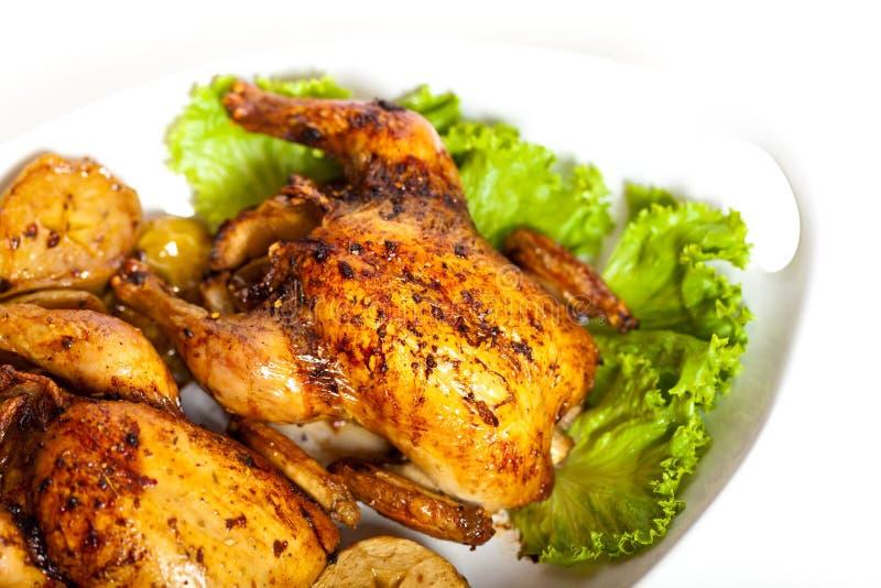 Зажаренная в духовке корнуольская курица стоковое изображение