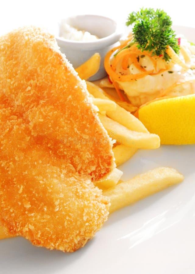 зажаренная еда рыб тарелки жарит западное стоковое изображение