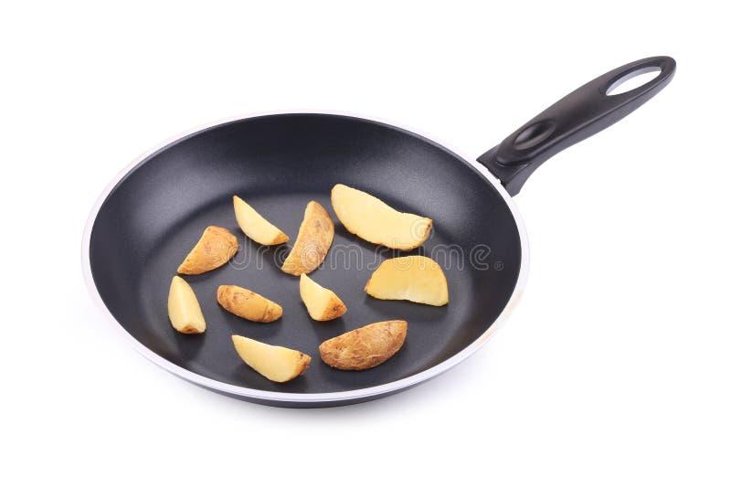 Зажаренная картошка в лотке стоковая фотография