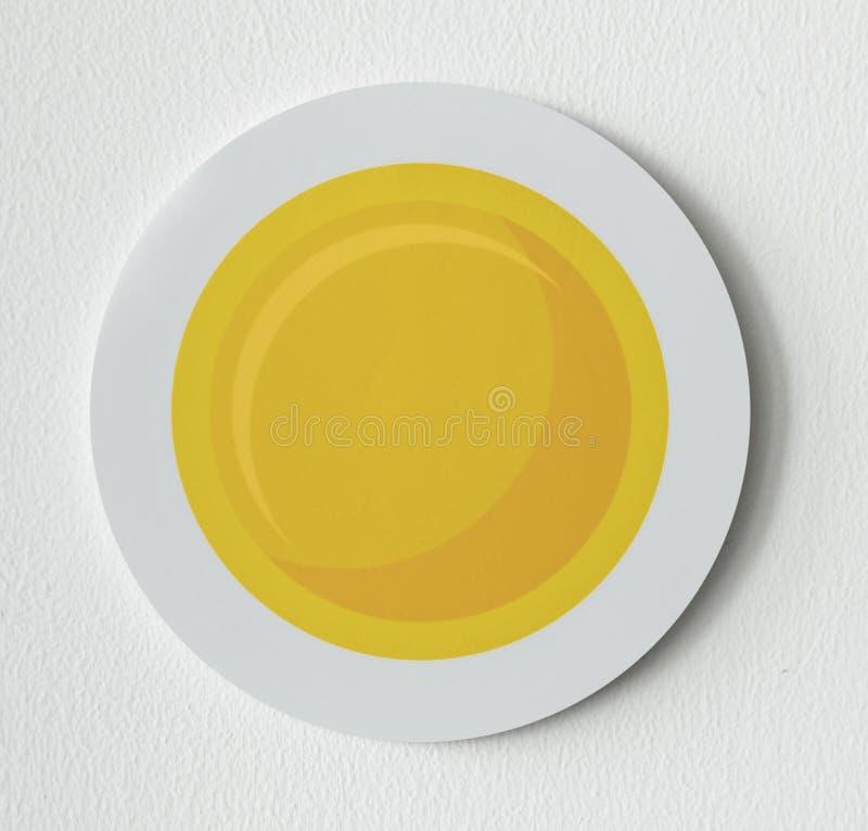 Зажаренная солнечная сторона вверх по значку яичка иллюстрация штока
