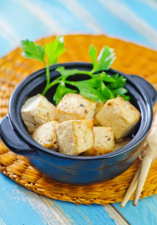 Зажаренное тофу стоковое фото rf