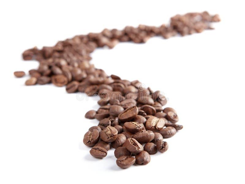 Зажаренные в духовке кофейные зерна стоковое фото
