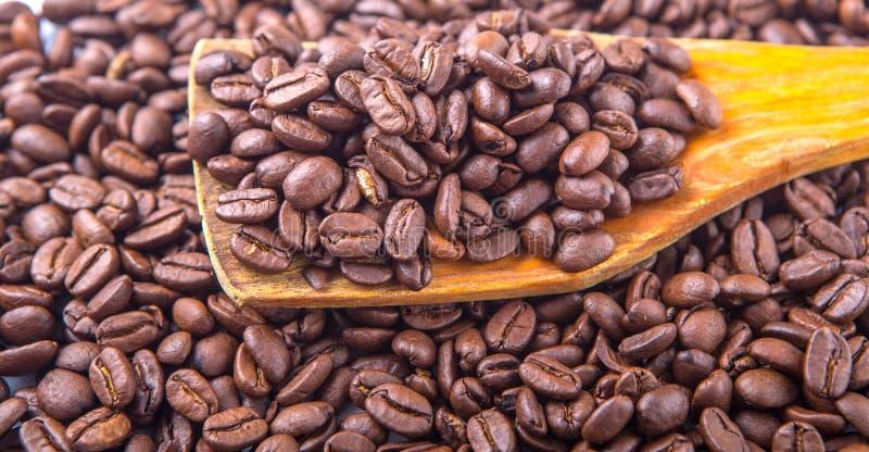 Зажаренные в духовке кофейные зерна IV стоковые фотографии rf