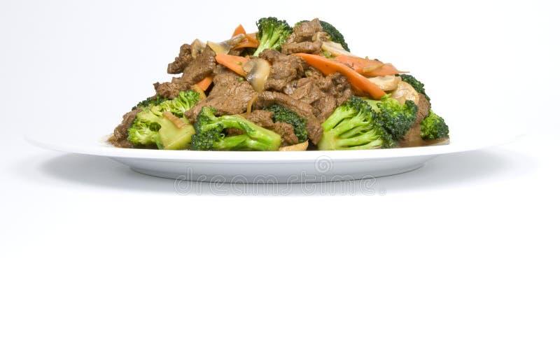 зажаренные говядиной овощи stir стоковые фото