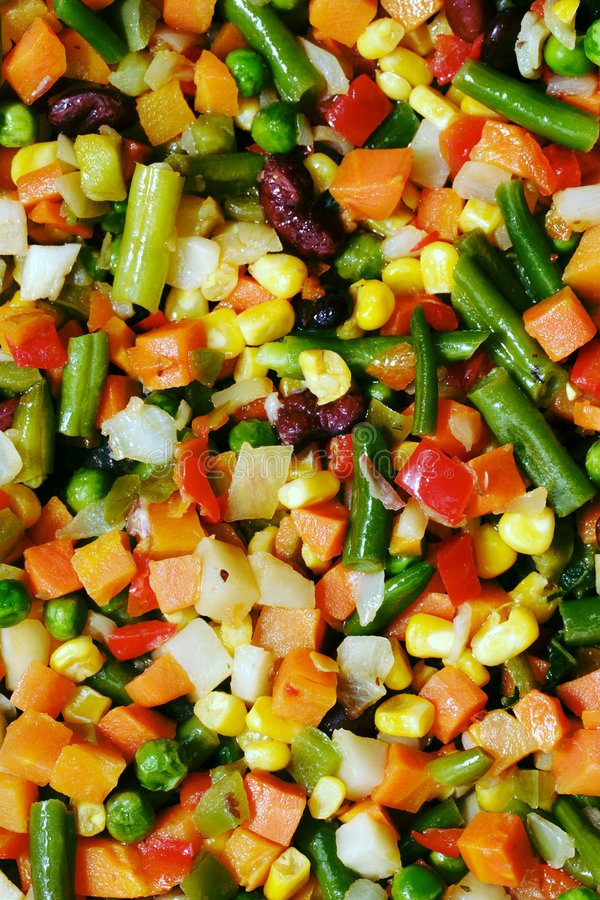 зажаренные овощи стоковая фотография