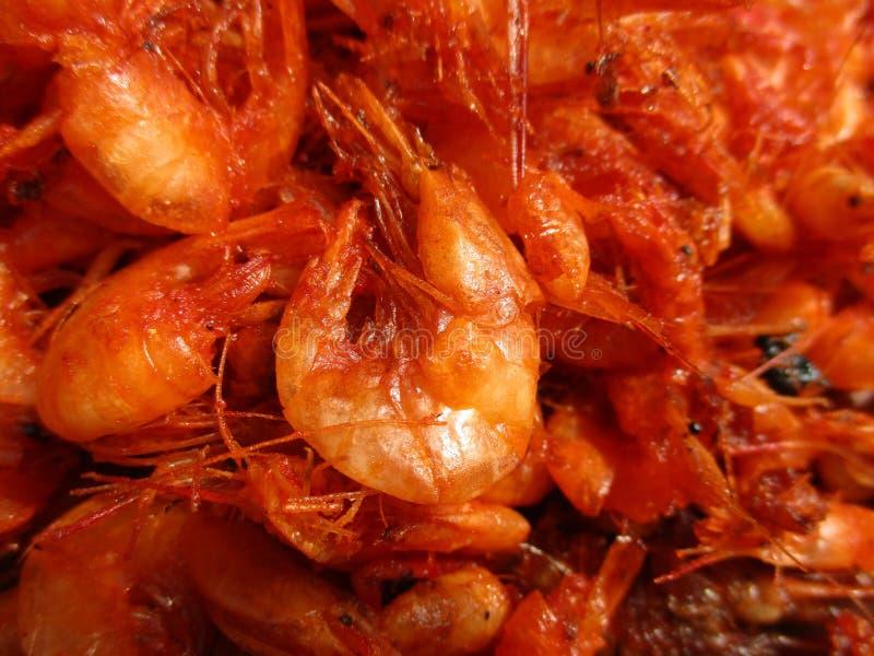 Зажаренные рыбы креветки стоковое фото