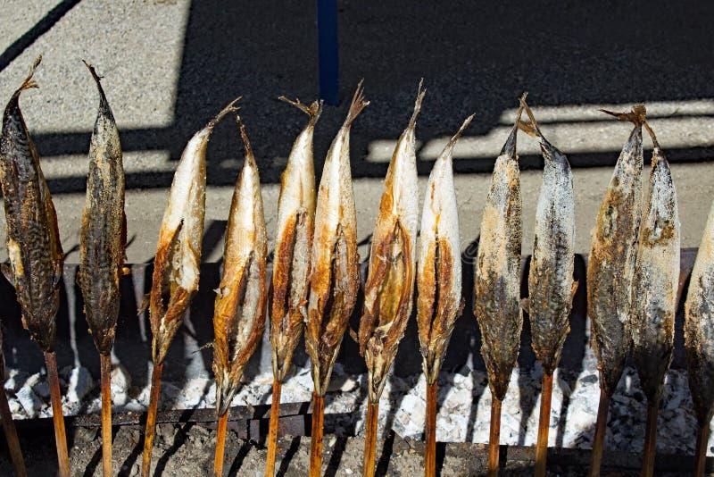 Зажаренные рыбы на Oktoberfest Мюнхене стоковая фотография