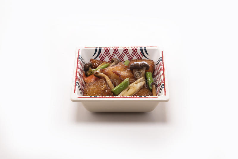 Зажаренные рыбы с грибом стоковая фотография
