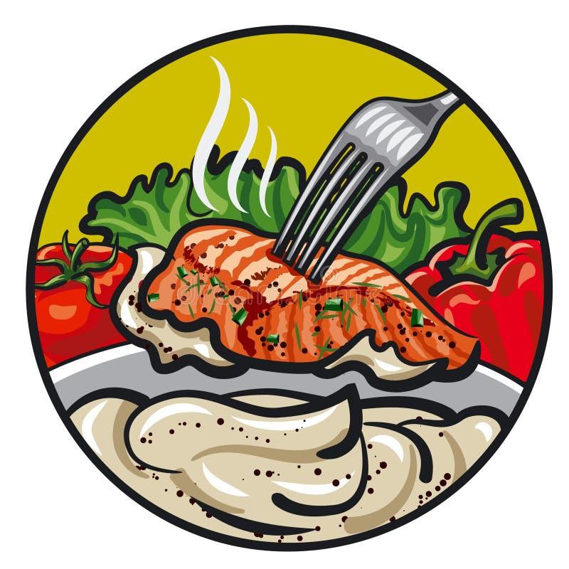Зажаренные рыбы с соусом бесплатная иллюстрация