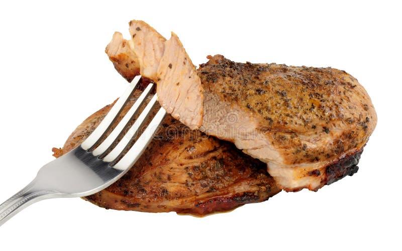 Зажаренные стейки мяса баранья ноги стоковое фото rf