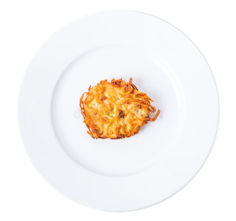 Зажаренный блинчик картошки стоковое изображение rf