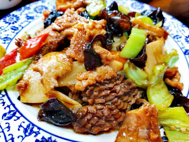 Зажаренный 3 видам блюда мяса @ китайского стоковые изображения rf