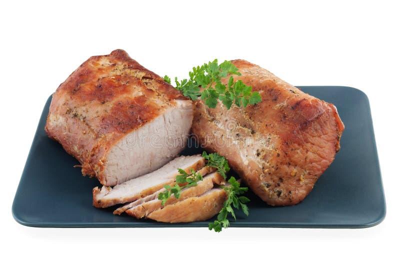 зажаренный в духовке свинина loin стоковое изображение