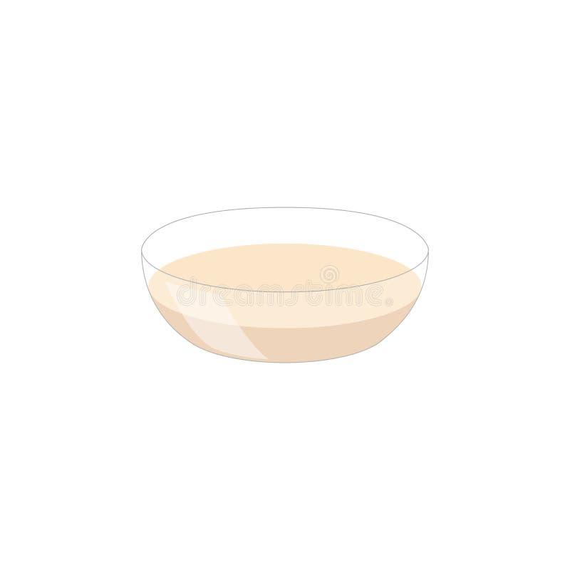 Зажаренный в духовке суп тыквы и моркови с семенами сливк и тыквы на белой деревянной предпосылке Скопируйте вектор космоса иллюстрация штока