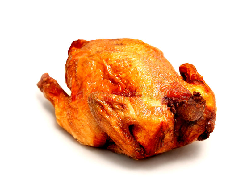 Зажаренный в духовке цыпленк цыпленок стоковая фотография
