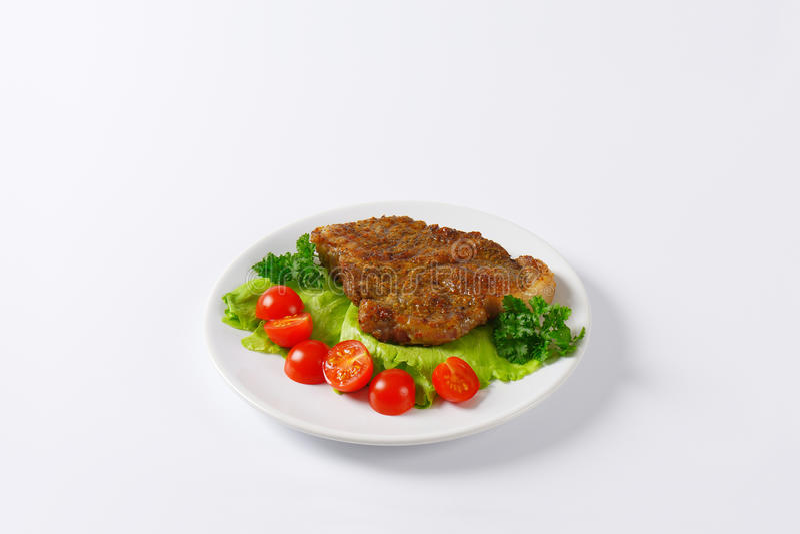 Зажаренный в духовке свинина с vegetebles стоковое изображение rf