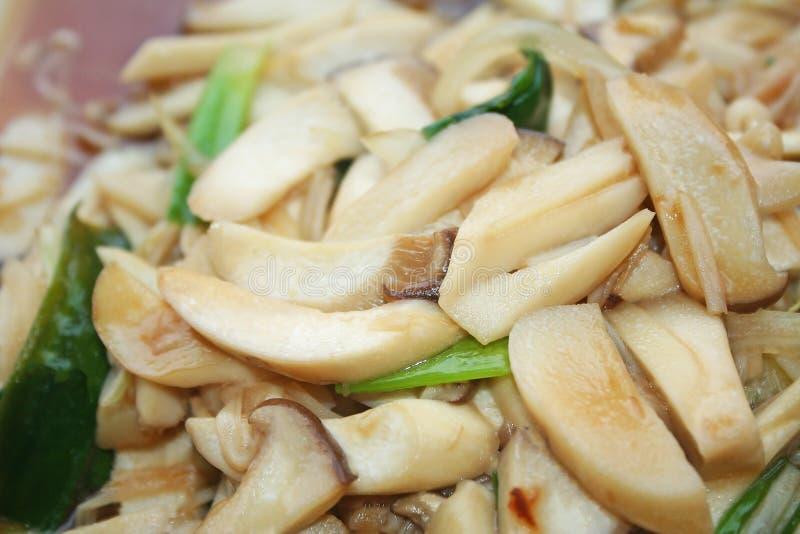 Зажаренный гриб соломы с соусом устрицы стоковые изображения