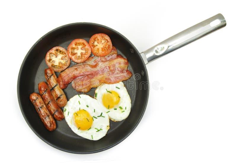 Download Зажаренный завтрак стоковое фото. изображение насчитывающей лоток - 37928934