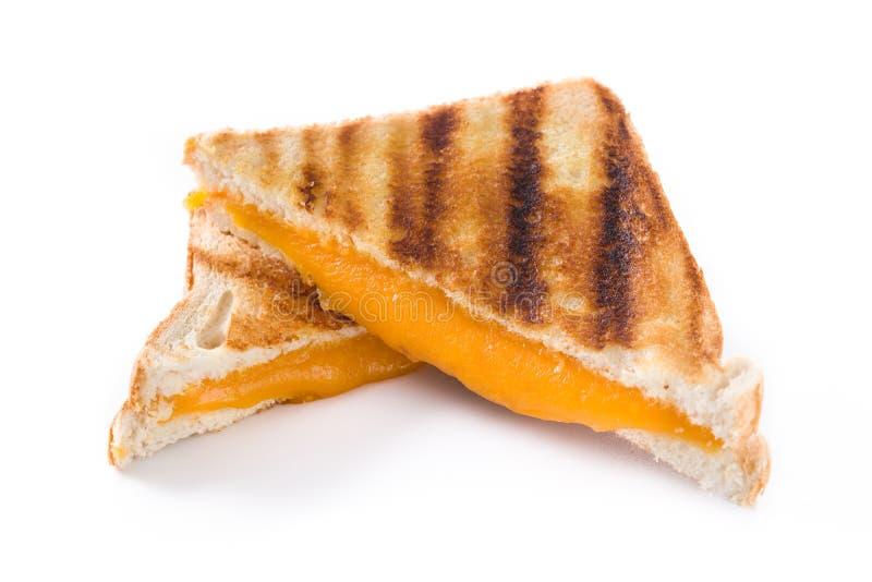 Зажаренный изолированный сандвич сыра стоковые фотографии rf