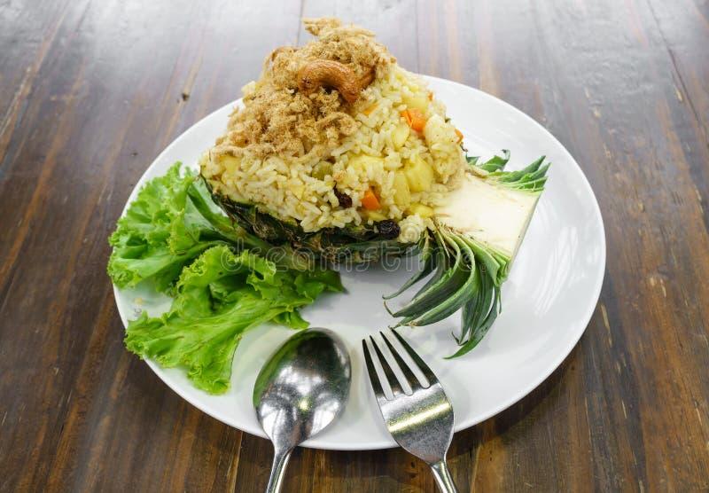 зажаренный рис ананаса стоковое изображение