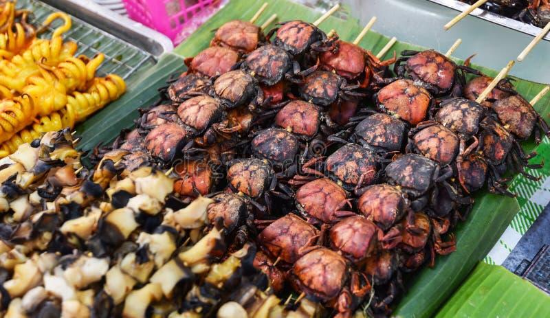 Зажаренный стиль краба поля тайский стоковые изображения rf