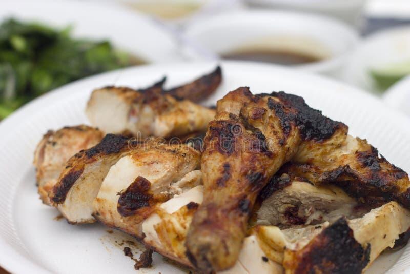 Зажаренный цыпленок в стиле ковбоев стоковое изображение