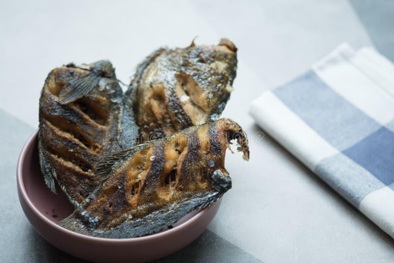 Зажаренный язык сухих рыб соли тайский - salid pla стоковые изображения