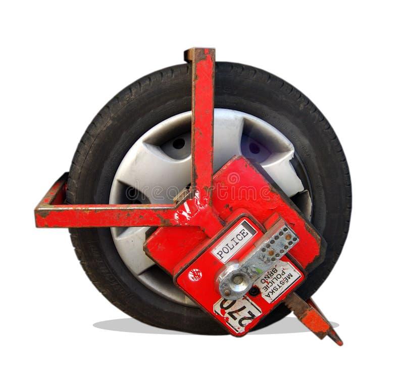 зажатое колесо стоковая фотография