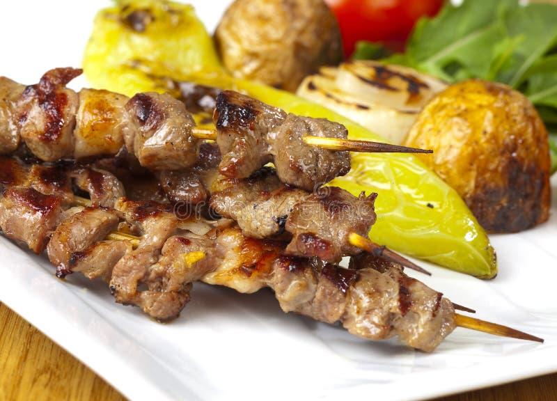 зажженное мясо стоковое изображение