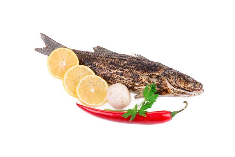 зажженные рыбы стоковая фотография rf