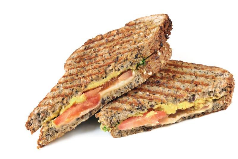 зажженный сандвич стоковое изображение rf